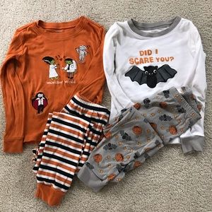 Lot of 2 Gymboree Halloween pajamas sets sz 6